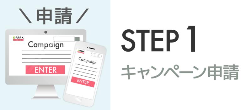 【STEP1】キャンペーン申請