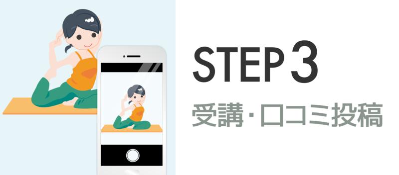 【STEP3】受講・口コミ投稿