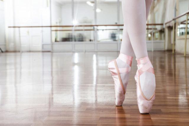 バレエの爪先立ち