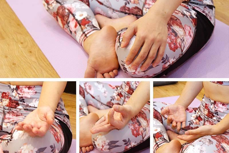 座位の手の位置と足の位置|ヨガの鼻呼吸